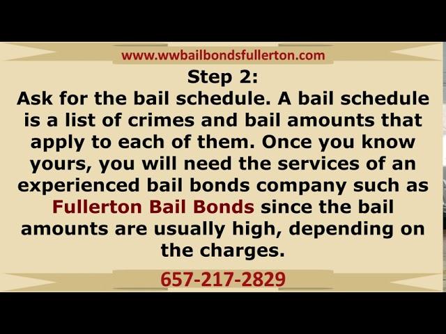 How bail bonds work in Fullerton, CA!