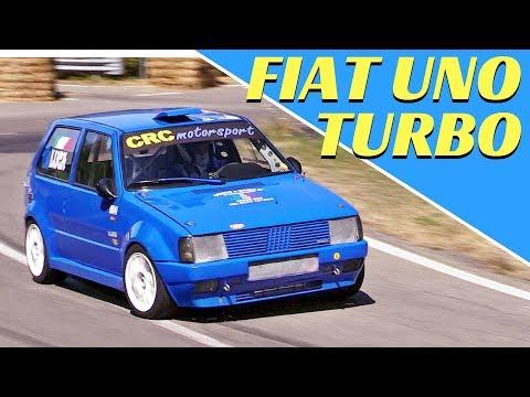 Fiat Uno Turbo MKI, Action & OnBoard! +230hp & Turbo Sound! - Slalom Rubbiano-Montefiorino