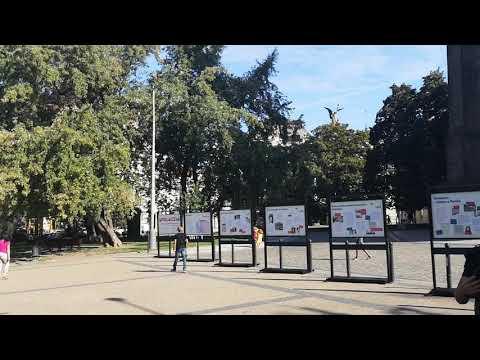 La plaza de la Paz en Vinohrady en Praga