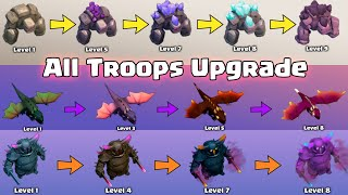 Upgrading All Troops in 6 Minutes | Clash of Clans All Troops Level