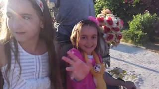 Тунис: я со своими 4-мя красавицами дочками катаемся на карете!!!