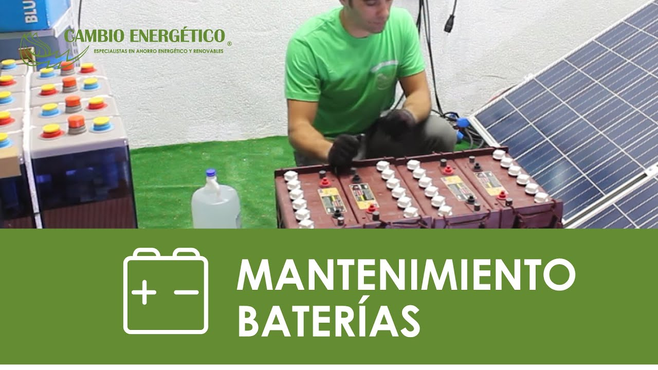 Mantenimiento De Bater 237 As De Kit Solares Youtube