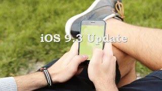 iOS 9.3 Update OTA - Changelog, IPSW Files Download