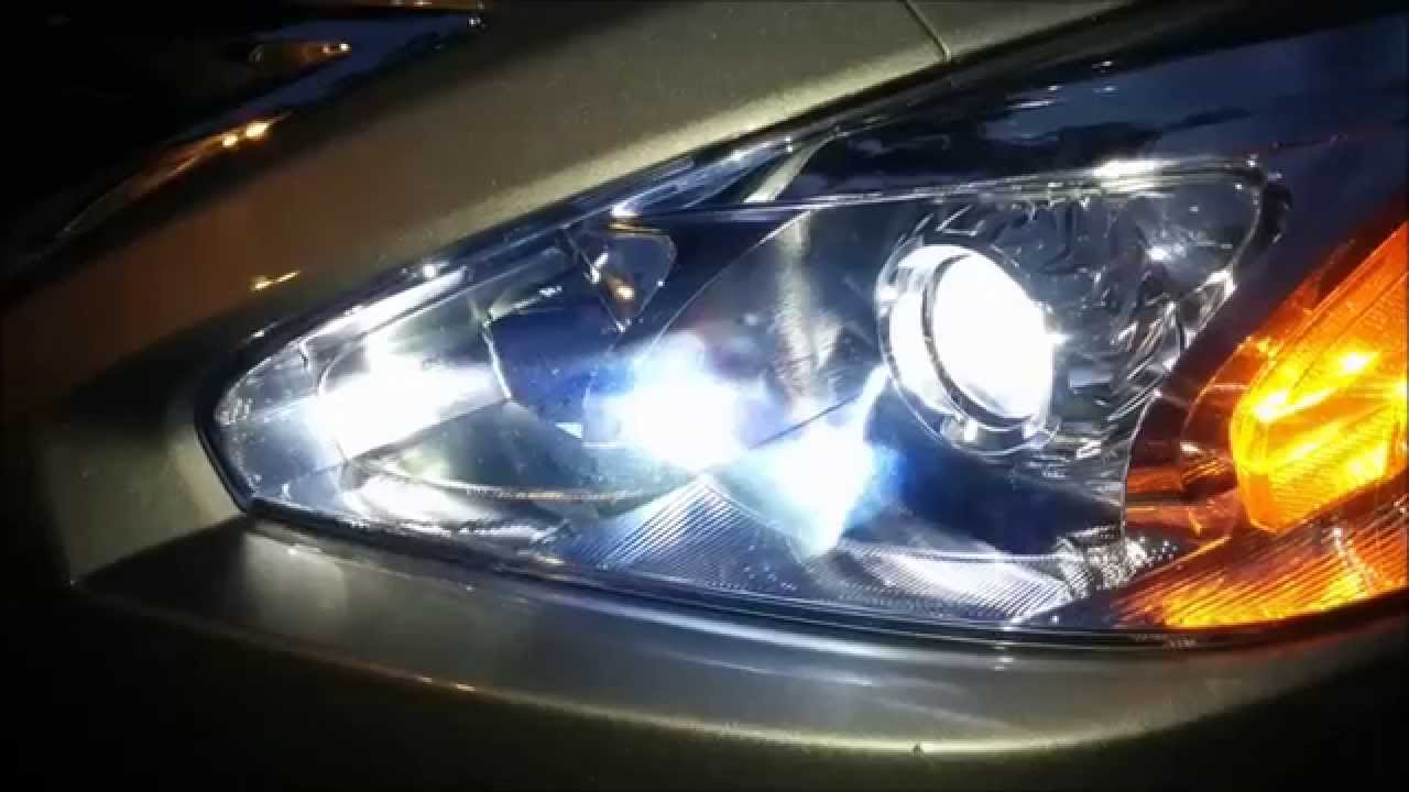 Led Headlight Conversion On 2013 To 2015 Nissan Altima