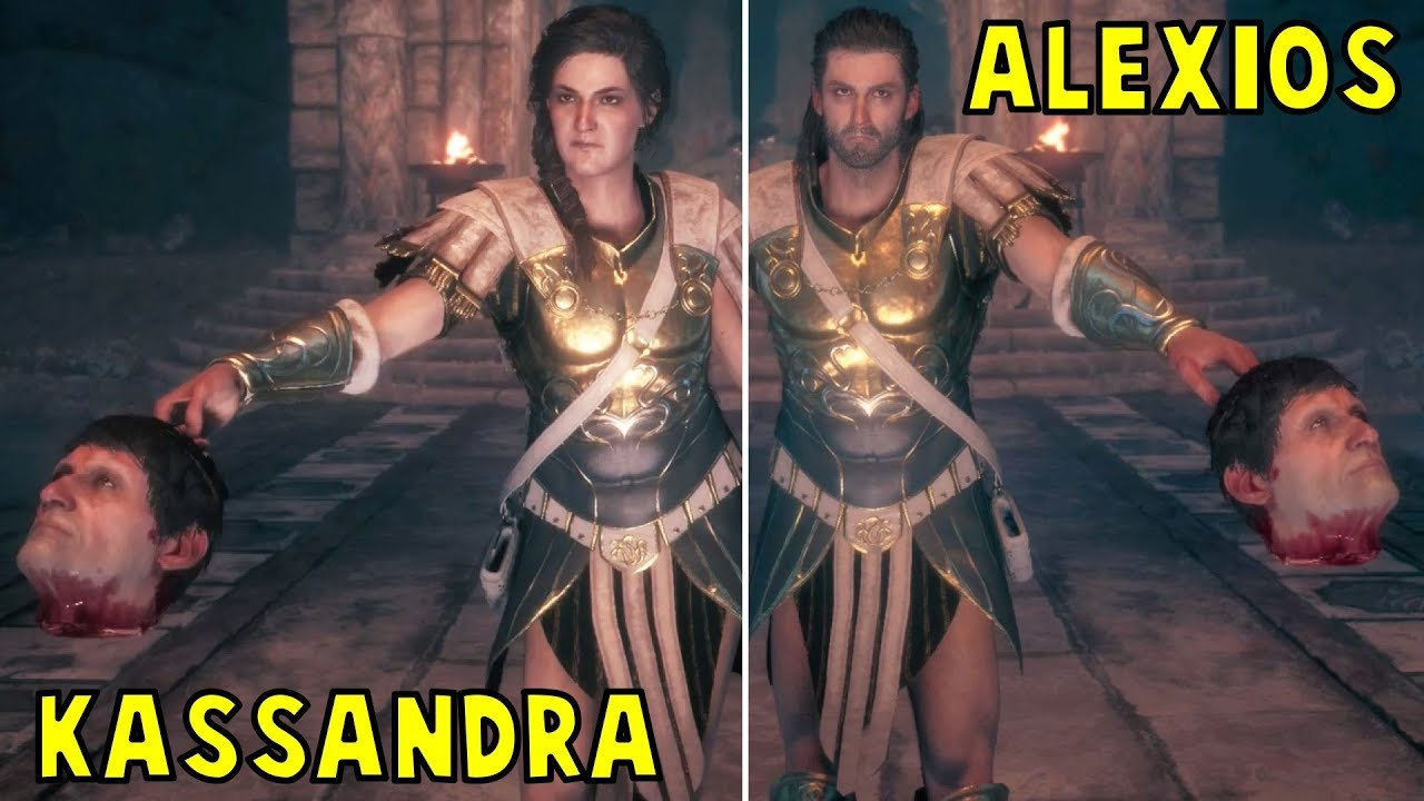 The Unexpected Meeting Of Alexios And Kassandra Both Scenarios