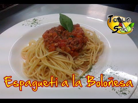 espagueti a la bolo esa paso a paso receta original toque y saz n bolognese spaghetti recipe. Black Bedroom Furniture Sets. Home Design Ideas
