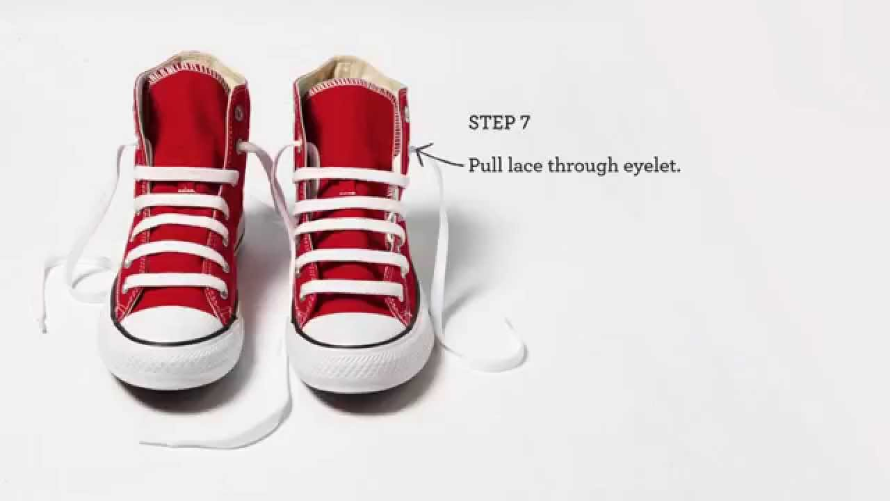 43242062d966 How to Lace Your Converse  Straight Across - YouTube