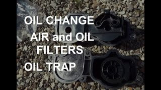 BMW e46 replacement of filters OIL, AIR and OIL TRAP замена фильтров БМВ