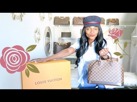 UNBOXING‼️LOUIS VUITTON ALMA MM😳HE WENT TO NEW ORLEANS TO GET IT🙃💖💞