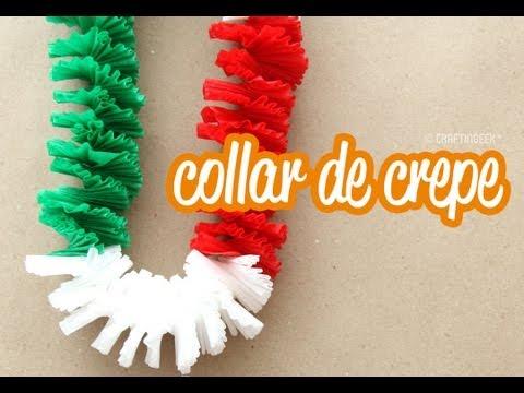 Collar de papel crepé: Fiestas patrias! - YouTube