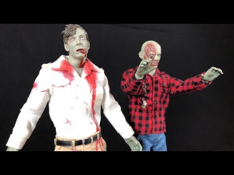 ONE:12 COLLECTIVE DAWN OF THE DEAD FLYBOY AND PLAID SHIRT ZOMBIE  IN STOCK