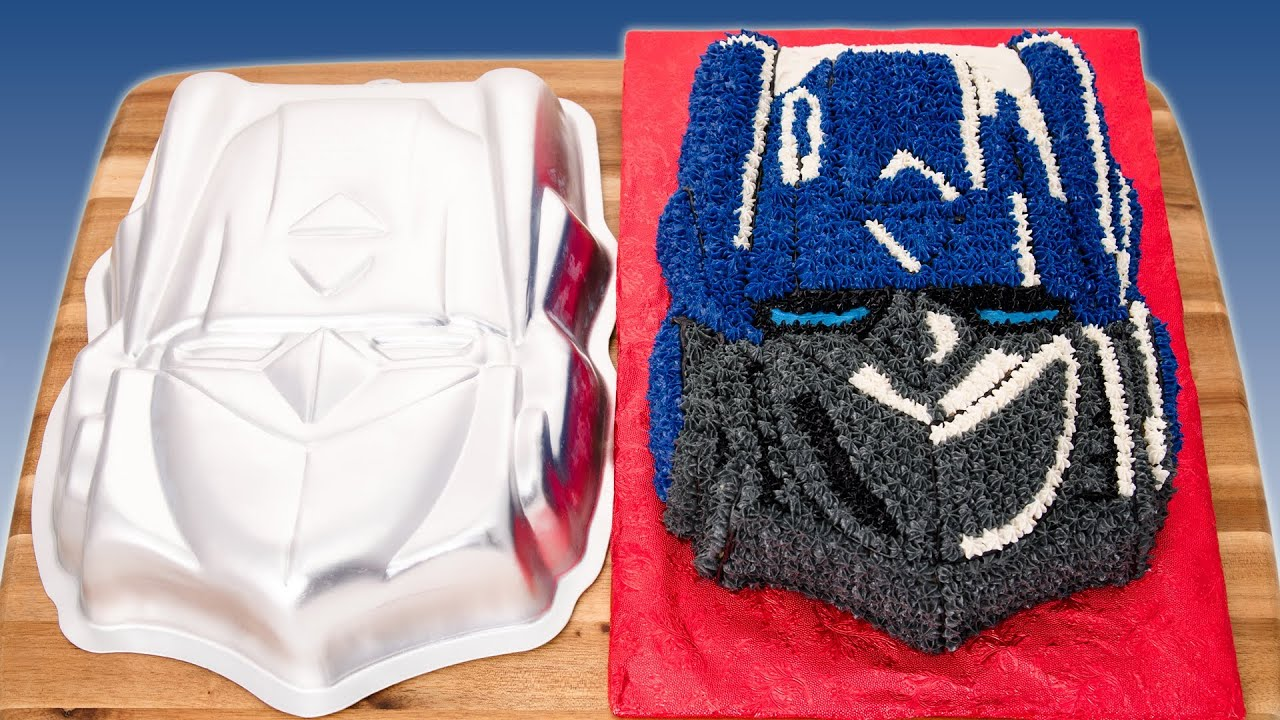 Transformers Cake How To Use Shaped Cake Pans From