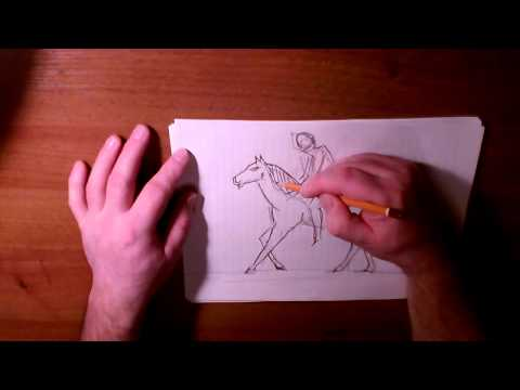 Как рисовать человека на коне