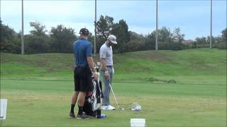 DUSTIN JOHNSON ON RANGE BEFORE 3RD ROUND OF AT&T BYRON NELSON CLASSIC 5/30/15