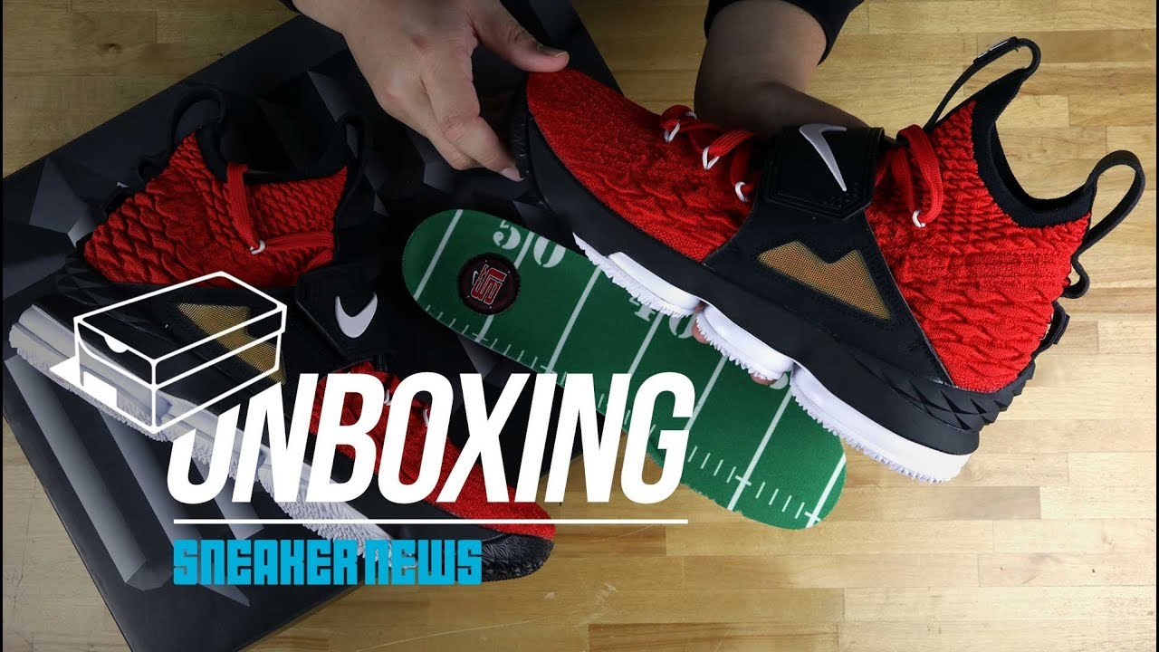 55c868e672a710 Unboxing the Red Diamond Turf LeBron 15
