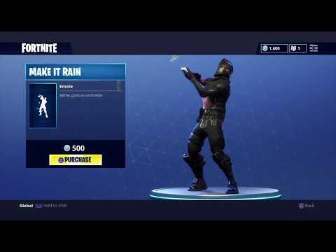 Make it Rain - Fortnite Battle Royale (Emote)
