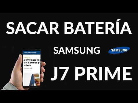 Cómo saco la Batería del Samsung Galaxy J7 Prime