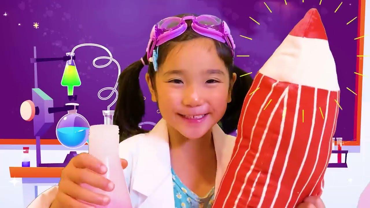 【寸劇】夏だ!プールで実験だ!みのちゃん人魚やピザやポテトを大きくしちゃう!?パパはたいへん!*こたみのチャンネル