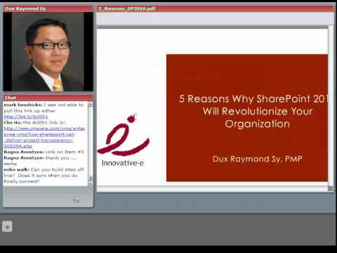 O'Reilly Webcast: 5 Reasons Why SharePoint 2010 Will Revolutionize Your Organization