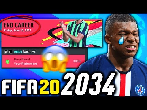 THE END OF FIFA 20 CAREER MODE IN 2034!!! FIFA 20 Career Mode Experiment