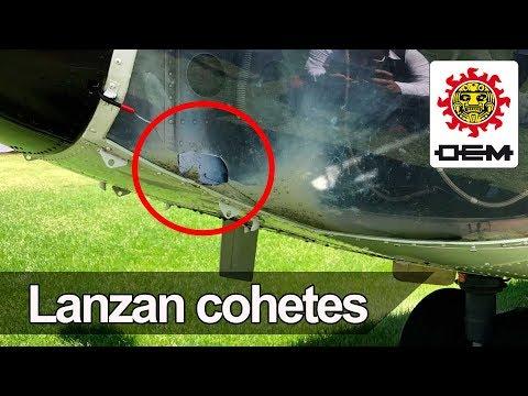 Sección XXII de la CNTE lanza cohete a helicóptero de la FAM / OEM
