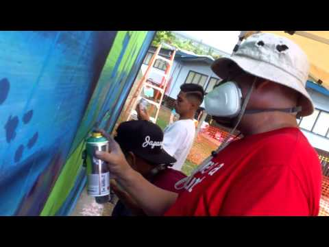 8.27.14 NEOMP not even once mural at the kealakehe elementary school