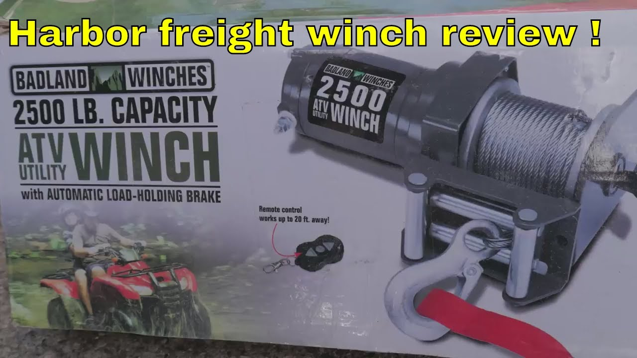 harbor freight badlands winch review and pull test  [ 1280 x 720 Pixel ]