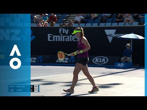 Kiki Bertens v Nicole Gibbs match highlights (2R) | Australian Open 2018.