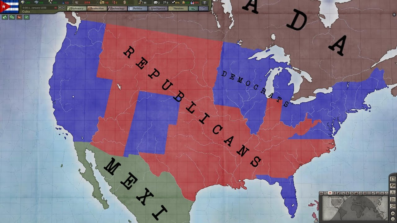 Hearts Of Iron 3 American Political War