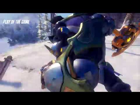 [ PC ] Overwatch 6v6 Lockout Elimination Black Forest Reinhardt Play of the Game Triple Kill Feed