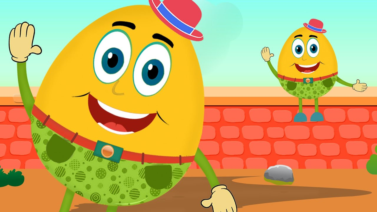 Humpty Dumpty Sat On A Wall | Humpty Dumpty Song for Children with ...