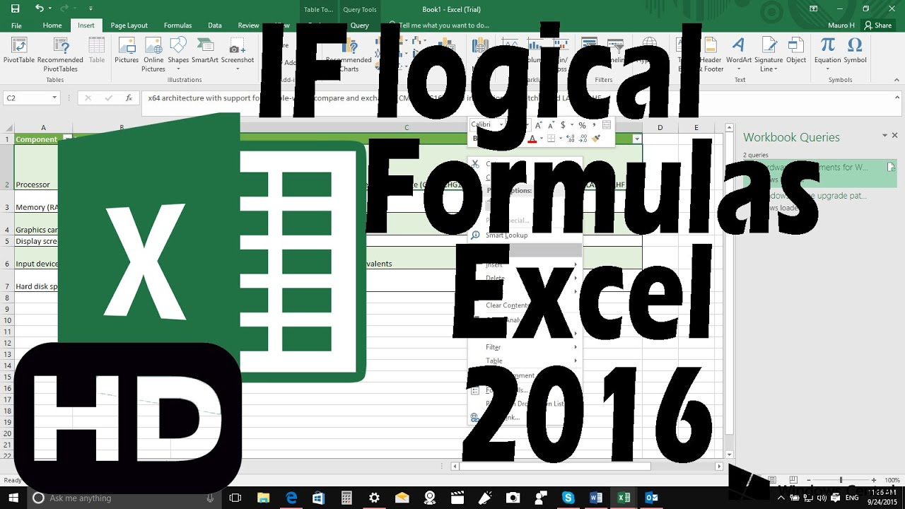 how to create nested formula in excel