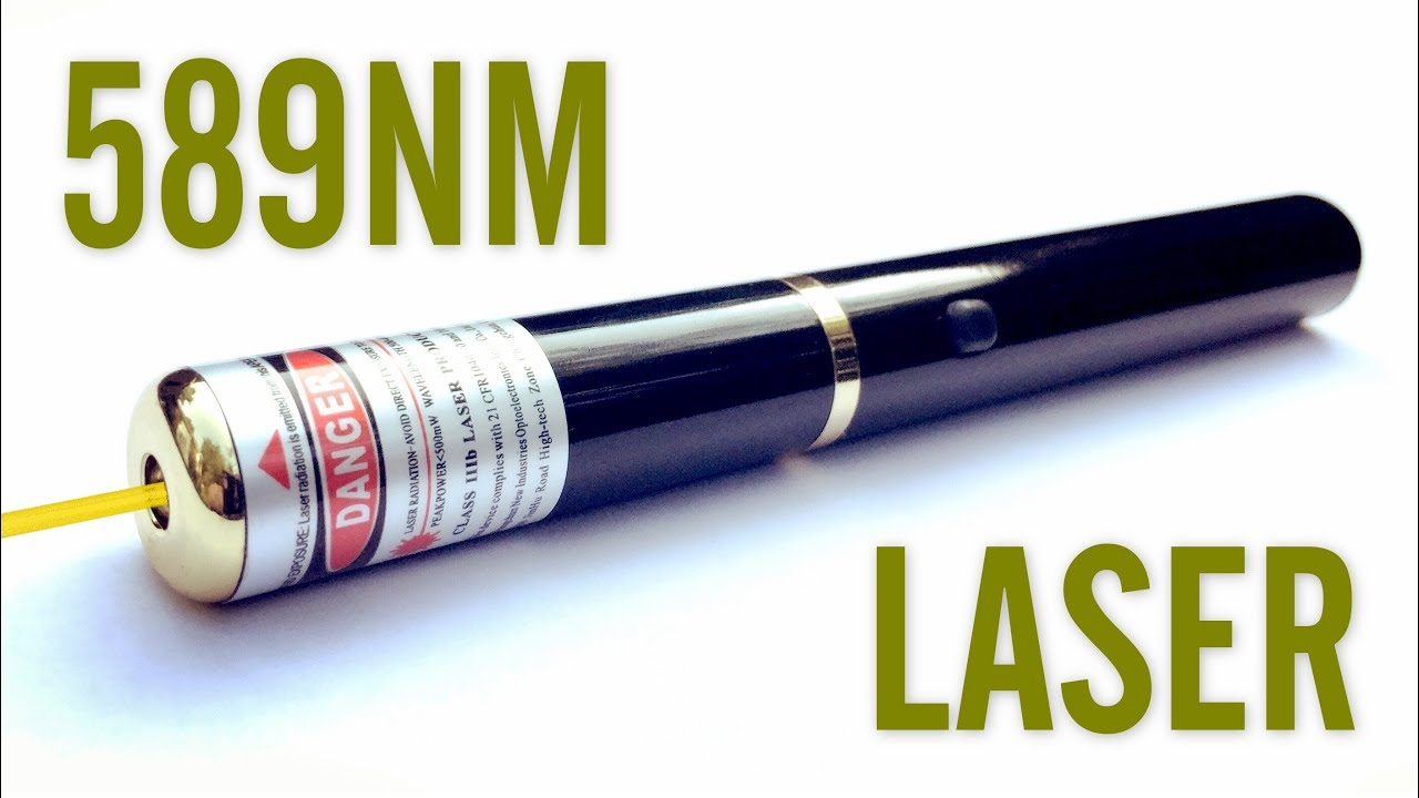 Cni Glp 5mw 589nm Yellow Laser Pointer Review Youtube