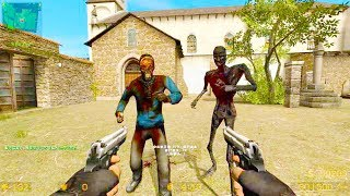 Counter Strike Source - Zombie Horde Mod Online Gameplay on cs_churchs map