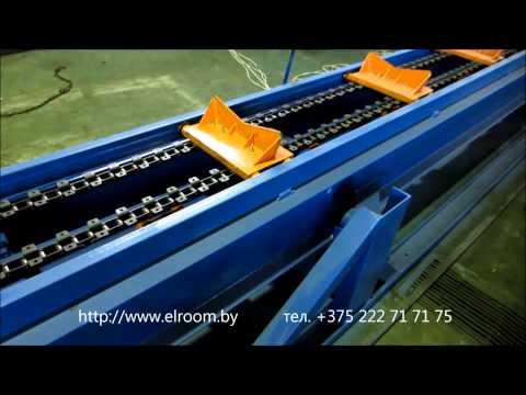 Производство труб в ППУ.Цепной транспортёр 426 http://elroom.by/