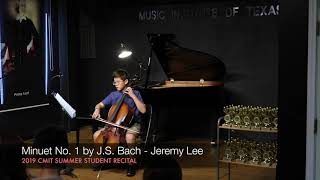 Minuet No. 1 by J.S. Bach - Jeremy Lee