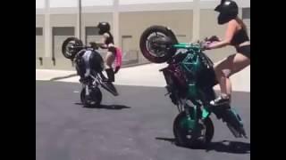 Amazing Girls Doing Crazy Bike Stunts