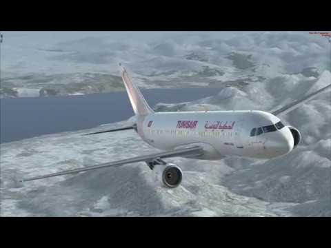 flight from Genéve to Tunis Airbus A320 TUNISAIR
