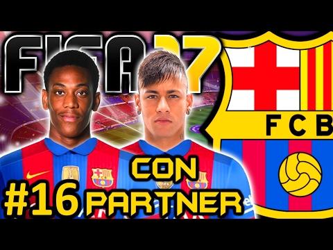 fifa-17-fc-barcelona-modo-carrera-#16- -neymar-es-imposible-y-el-clasico- -con-partner