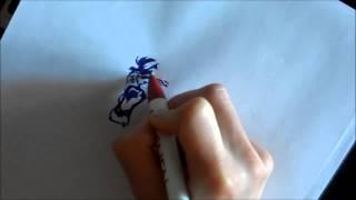 как рисовать льва шариковой ручкой или карандашом,(тату)(видеоурок рисования льва шариковой ручкой, что-то по типу тату., 2015-04-17T17:48:18.000Z)
