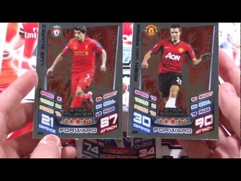 Match Attax 2012 13 Opening Star Signing Robin Van Persie Vs Star Player Luis Suarez Ep8