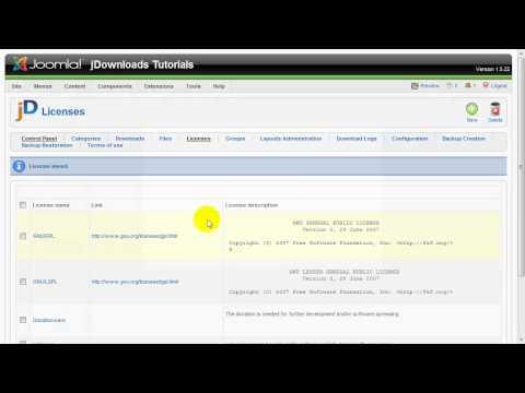 JDownloads Tutorial: Use Licenses