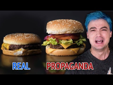 Comida REAL vs Comida de PROPAGANDA