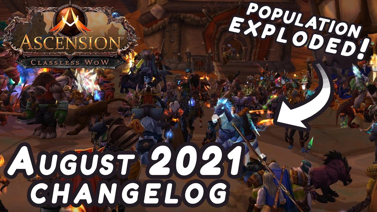 Download Ascension Changelog: August 2021 - Season 7, MASSIVE Core Upgrades, Mythic Vanilla Dungeons, & more!