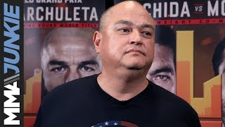 Scott Coker talks to media at Bellator 226, Bellator 228 media day in L A