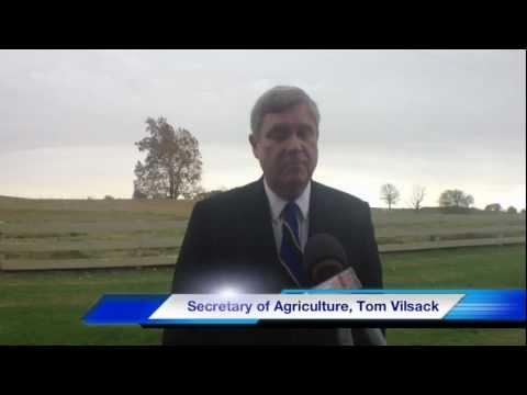 US Secretary of Agriculture Tom Vilsack Visits Cedar Hill TN