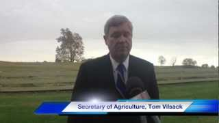 US Secretary of Agriculture Tom Vilsack Visits Cedar Hill TN