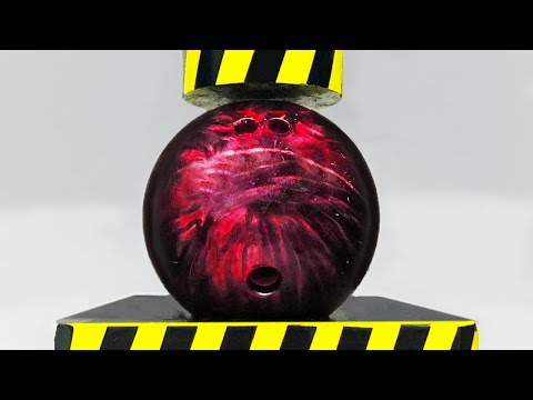 Hydraulic Press vs Bowling Ball! - Beast Reacts
