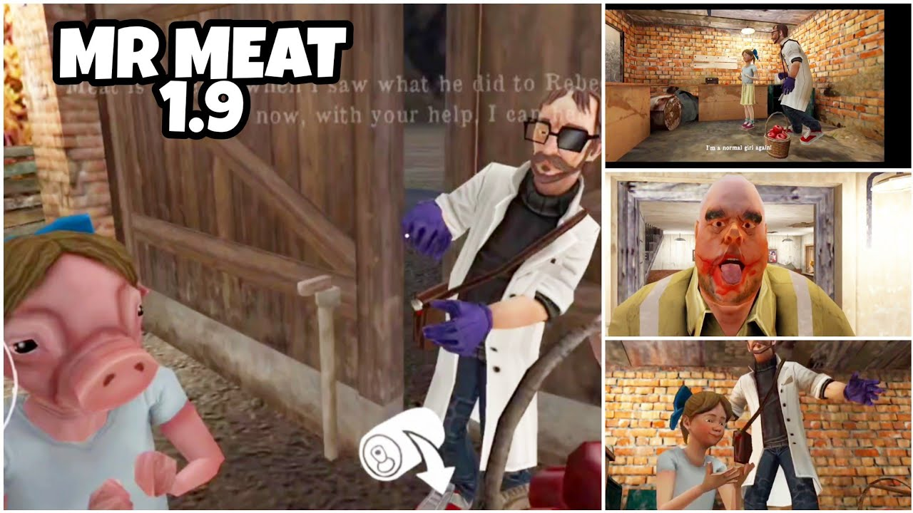 MR MEAT - SCIENTIST AND PIGGY GIRL IN NEW UPDATE | FULL GAMEPLAY | MR MEAT HAS VOICE