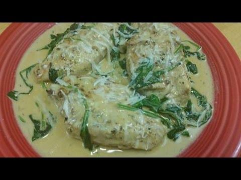 Chicken And Spinach In Garlic Cream Sauce Recipe- Episode 156
